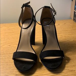 Never worn, simple strapped heels